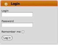 Login form screenshot